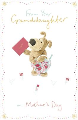 Boofle From Your Granddaughter Mother's Day Greeting Card