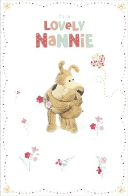 Boofle To A Lovely Nannie Mother's Day Greeting Card
