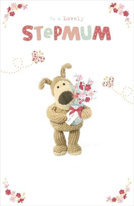 Boofle To A Lovely Stepmum Mother's Day Greeting Card