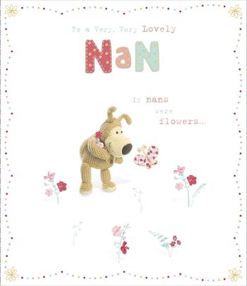 Boofle If Nans Were Flowers Mother's Day Greeting Card