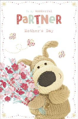 Boofle To My Wonderful Partner Mother's Day Greeting Card
