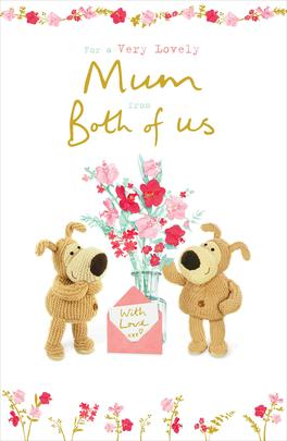 Boofle Mum From Both Of Us Mother's Day Greeting Card