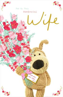 Boofle Wonderful Wife Mother's Day Greeting Card