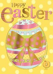 Easter Egg & Chick Happy Easter Greeting Card