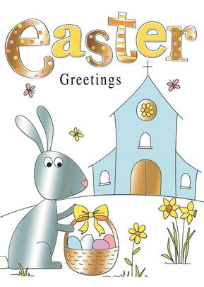 Bunny Easter Hunt Happy Easter Greeting Card