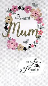 Wonderful Mum Boxed Luxury Lavish Mother's Day Card
