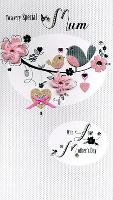 Very Special Mum Luxury Lavish Mother's Day Card