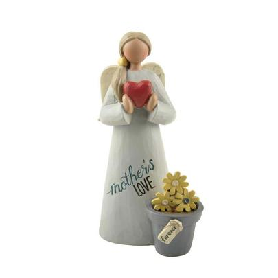 Mother's Love Forever Feather & Grace Angel Figurine Guardian Angel Gift