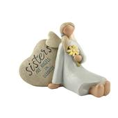 Sisters Angels In Disguise Feather & Grace Angel Figurine Guardian Angel Gift