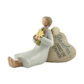 Grandma Sprinkles Love Feather & Grace Angel Figurine Guardian Angel Gift