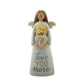 Aunt Love You More Feather & Grace Angel Figurine Guardian Angel Gift