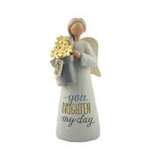Friend You Brighten My Day Feather & Grace Angel Figurine Guardian Angel Gift