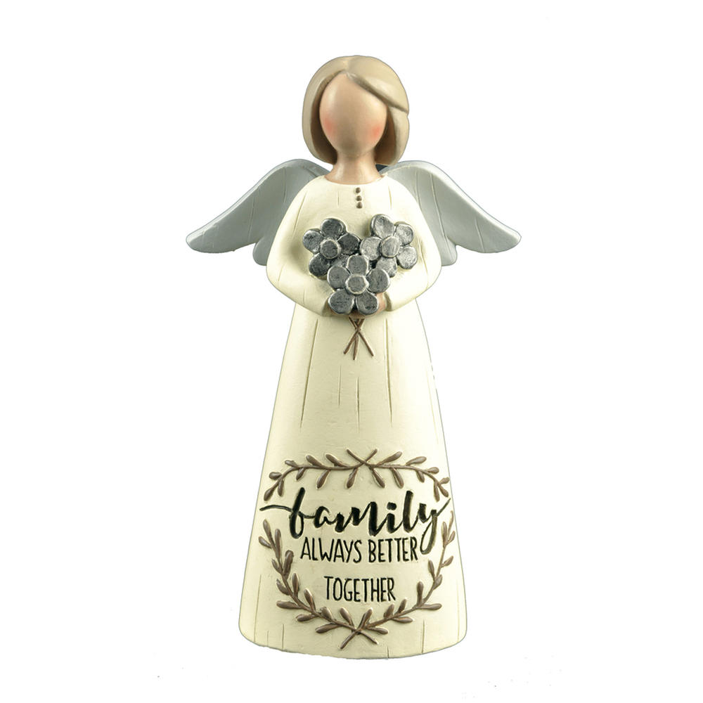 Family Always Better Together Feather & Grace Angel Figurine Guardian Angel Gift