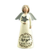 Know Hope Because Of You Feather & Grace Angel Figurine Guardian Angel Gift