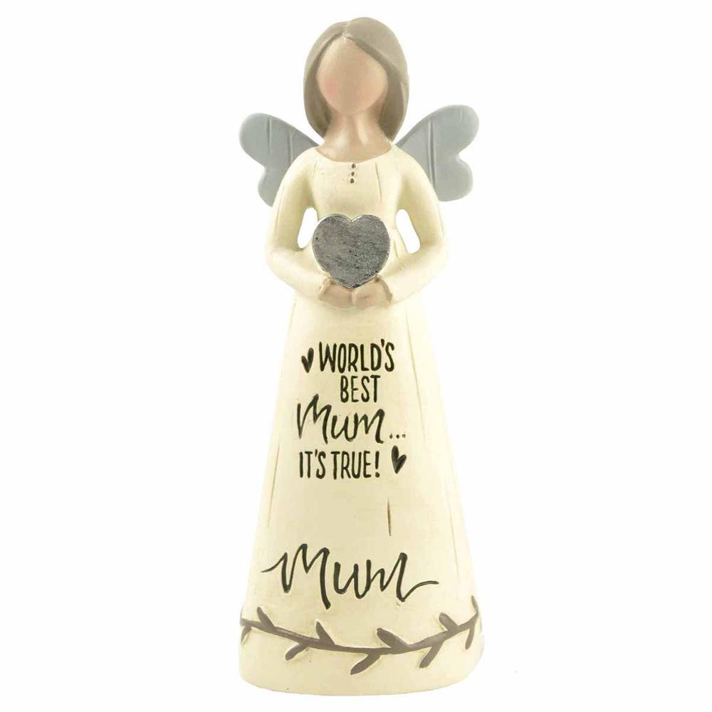 World's Best Mum It's True Feather & Grace Angel Figurine Guardian Angel Gift