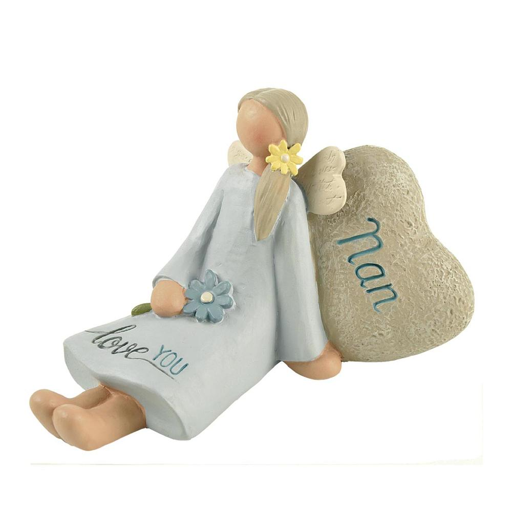Nan Love You Feather & Grace Angel Figurine Guardian Angel Gift