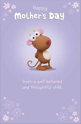 Funny From Well Behaved Child Happy Mother's Day Card