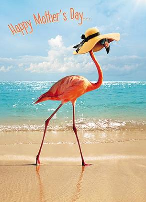 Avanti Super-Stylish Flamingo Happy Mother's Day Card