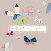 Pretty Foiled Butterflies Happy Mother's Day Greeting Card