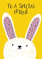 Cute To A Special Friend Easter Greeting Card