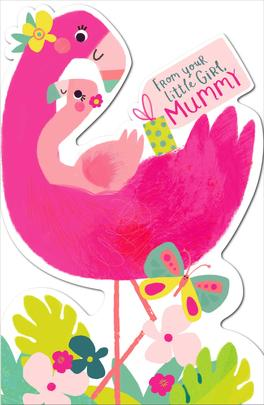 From Your Little Girl Mummy Shaped Happy Mother's Day Card
