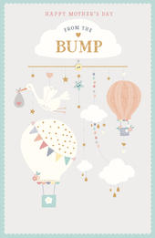 Embossed From The Bump Happy Mother's Day Card