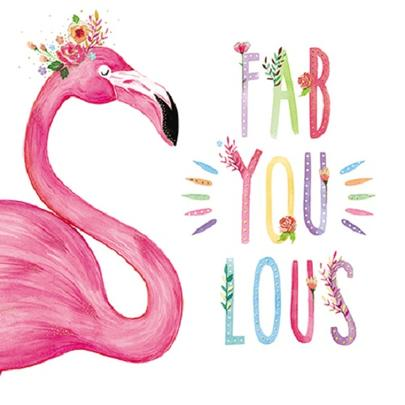 Flamingo Fab-You-Lous Happy Mother's Day Greeting Card