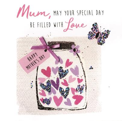 Mum Special Day Hand-Finished Mother's Day Greeting Card