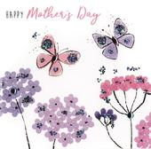 Pretty Butterflies Hand-Finished Mother's Day Greeting Card