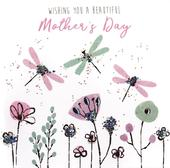 Pretty Dragonflies Hand-Finished Mother's Day Greeting Card