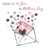Sending All My Love Hand-Finished Mother's Day Greeting Card