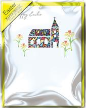 Easter Church Pack of 5 Mini Paper House Easter Cards
