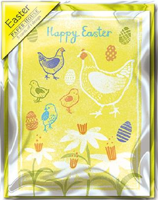 Easter Chicks Pack of 5 Mini Paper House Easter Cards