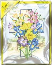 Flowers Pack of 5 Mini Paper House Easter Cards