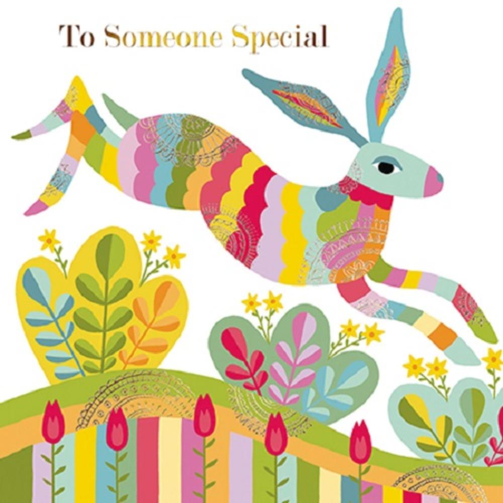 To Someone Special Easter Hare Easter Greeting Card