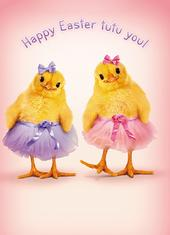 Avanti Easter Chicks Wearing Tutus Easter Card