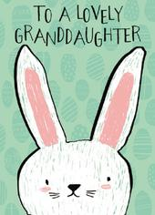 Cute To A Lovely Granddaughter Easter Greeting Card