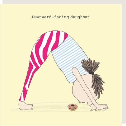 Rosie Made A Thing Downward-Facing Doughnut Birthday Card