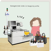Rosie Made A Thing Unexpected Item In Bagging Area Birthday Card