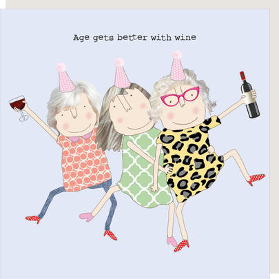 Rosie Made A Thing Age Gets Better With Wine Girl Birthday Card