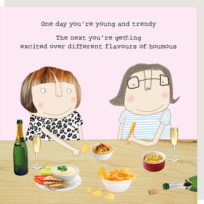 Rosie Made A Thing Different Flavours Of Houmous Birthday Card