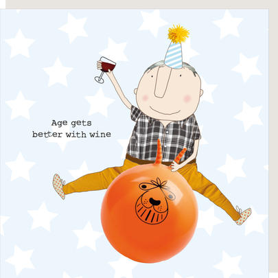 Rosie Made A Thing Age Gets Better With Wine Boy Birthday Card