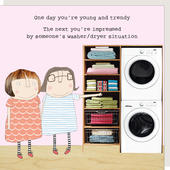 Rosie Made A Thing Washer/Dryer Situation Birthday Card
