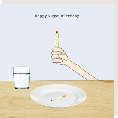 Rosie Made A Thing Happy Vegan Birthday Card