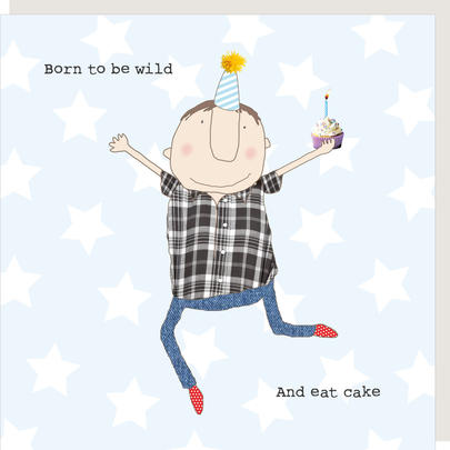 Rosie Made A Thing Born To Be Wild & Eat Cake Birthday Card