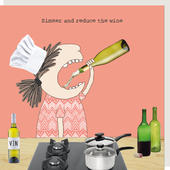 Rosie Made A Thing Simmer & Reduce The Wine Birthday Card