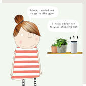 Rosie Made A Thing Alexa Gin Funny Babble Birthday Card