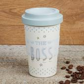 Eco The Boss Bamboo Travel Mug With Screw Lid & Silicone Band