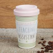 Eco Teaching Assistant Bamboo Travel Mug With Screw Lid & Silicone Band