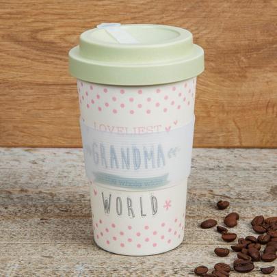 Eco Loveliest Grandma Bamboo Travel Mug With Screw Lid & Silicone Band